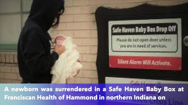 Newborn baby girl surrendered at Indiana Baby Box that's been open less than a month
