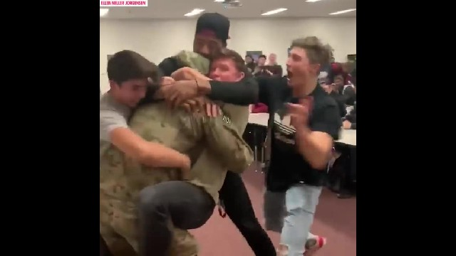 Beloved deployed teacher and coach shocks his students with surprise homecoming