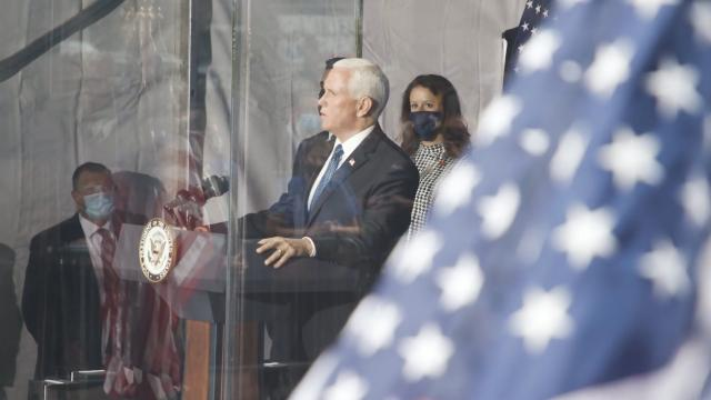 Vice President Pence visits the 9-11 memorial in New York city