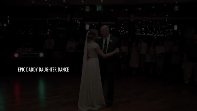 BEST surprise father daughter wedding dance to epic song mashup - Utah Wedding Videographer