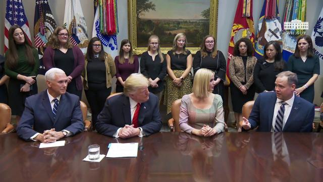 President Trump Participates in a Video Call with the Participants of the First All-Women Spacewalk