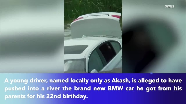 22-year-old man pushed BMW given to him into river because he wanted a Jaguar