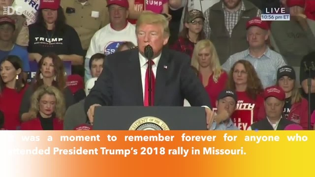 Hundreds unite to sing 'Amazing Grace' after woman faints at President Trump rally