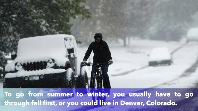 Denver goes from 83 to 13 degrees in just 18 hours