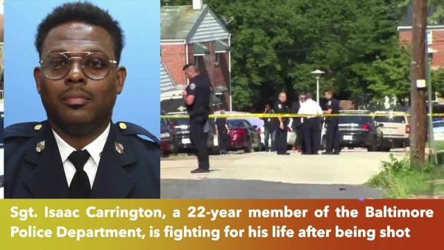 Baltimore police sergeant on life support after being shot by masked gunmen