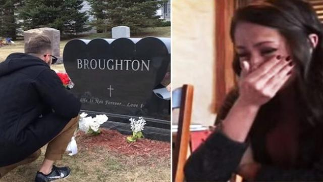 Boyfriend flies 3,000 miles to visit girlfriend's late father's grave to ask for her hand