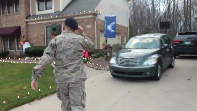 Soldier sneaks into house ready to unleash ambush his family never saw coming