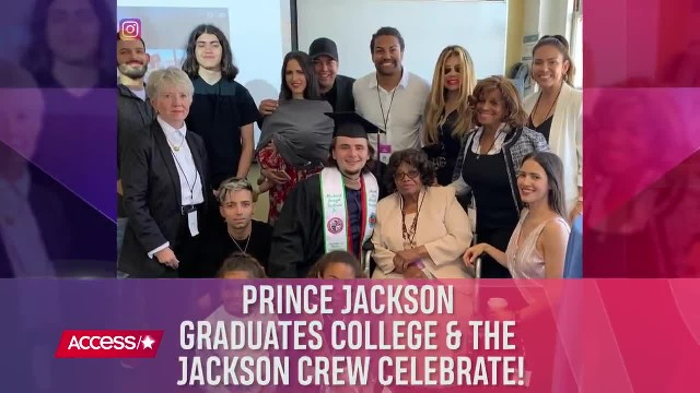 Prince Jackson Graduates College & Celebrates With Blanket & The Jackson Family!