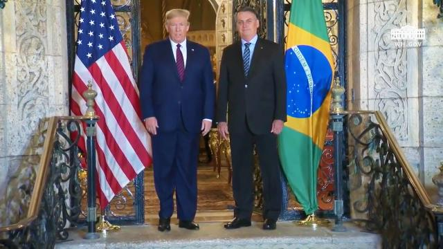 President Trump praises the President of Brazil