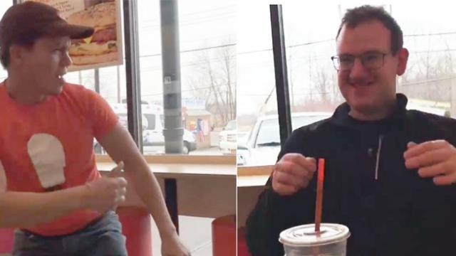 Dancing Dunkin' Donuts employee brings smile to autistic customer