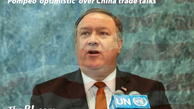 The BL News- Pompeo 'optimistic' over China trade talks