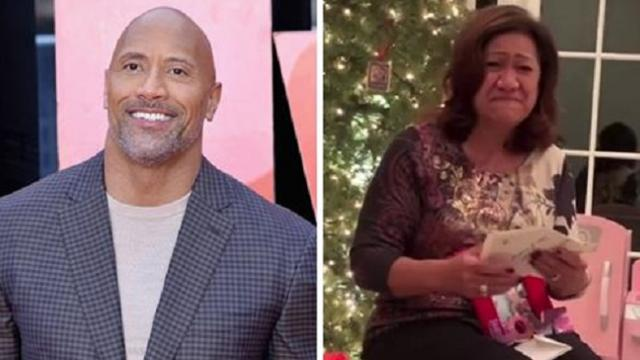Watch: 'The Rock' gives mom 'Golden Ticket' on Christmas to buy any home she wants