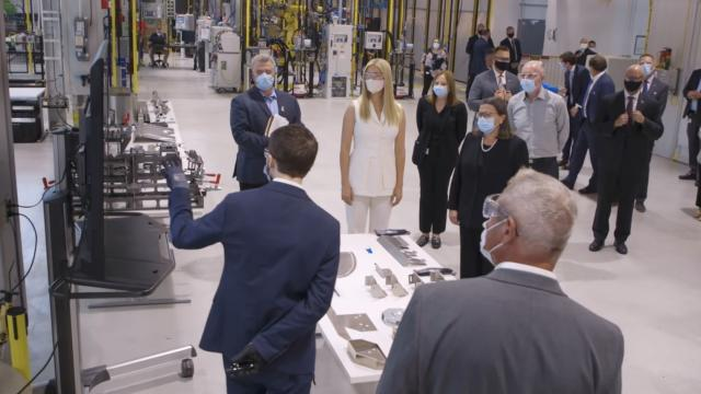 Senior advisor Ivanka Trump visits GM tech center in Warren, Michigan