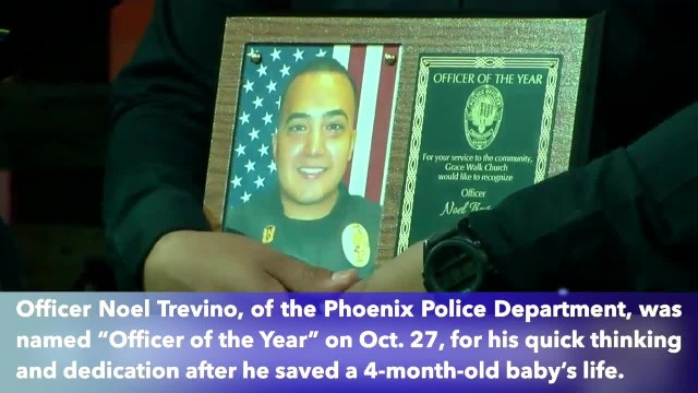 Phoenix Police Officer honored for saving life of 4-month-old baby