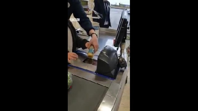 Dad stops son with down syndrome from playing on register, then manager steps in