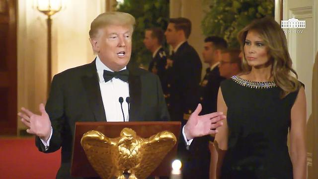 President Trump and The First Lady attend the Governors' ball