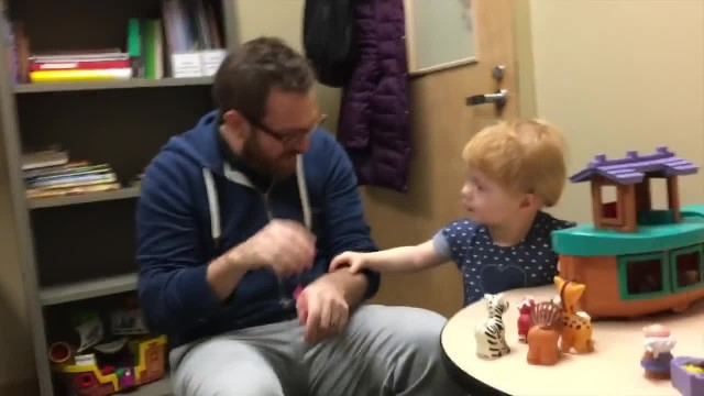 'Are you ready?': Deaf toddler is introduced to the world of sound for the first time