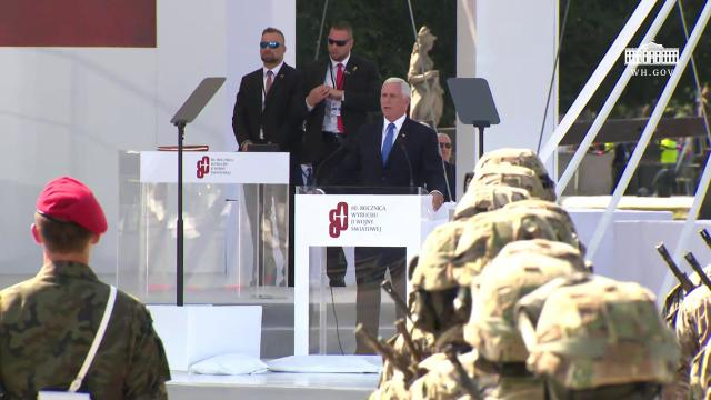 Vice President Pence Delivers Remarks at the 80th Anniversary of the Outbreak of World War II