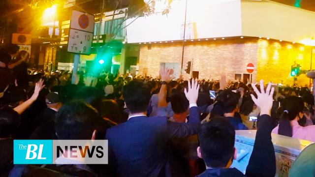 Newly elected pro-democracy district council members show support for PolyU protesters