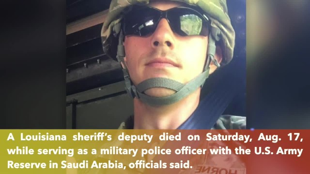 Louisiana sheriff's deputy dies while serving in Saudi Arabia