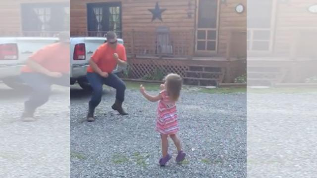 Father dances with his little girl in this hilarious and heartwarming video!