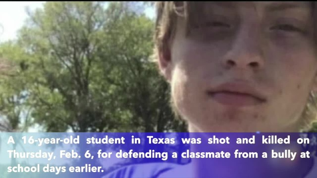 16-year-old Texas student shot dead for defending classmate from bully days earlier