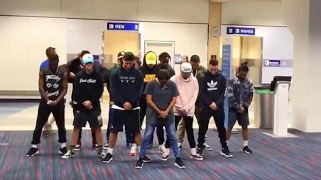Dancers trapped in airport for six hours bring down the house with wild routine
