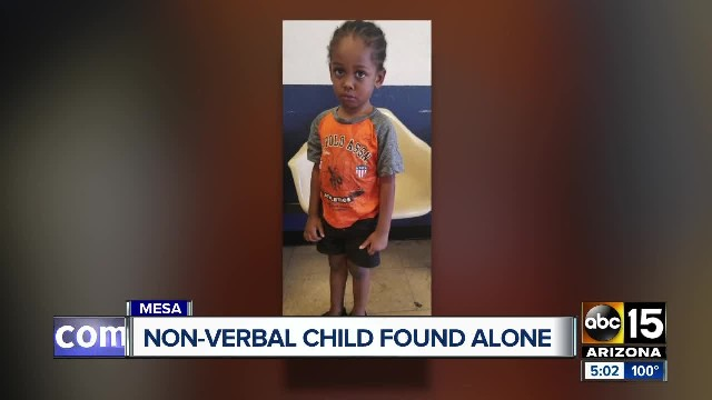 Mesa police locate parents of 3-year-old found alone Thursday afternoon