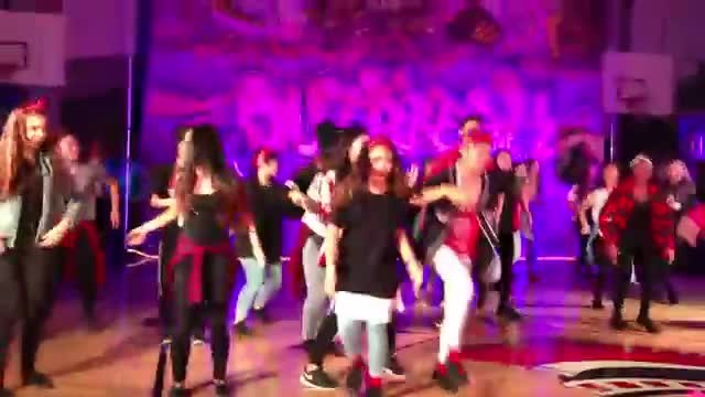 Students do 'Uptown Funk' routine but the 60 year old teacher's moves puts them to shame