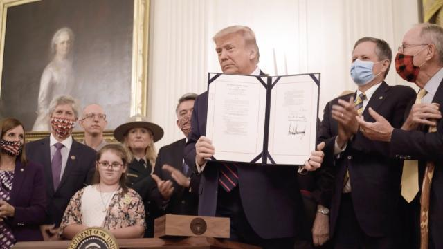 President Trump signs the great American outdoors act