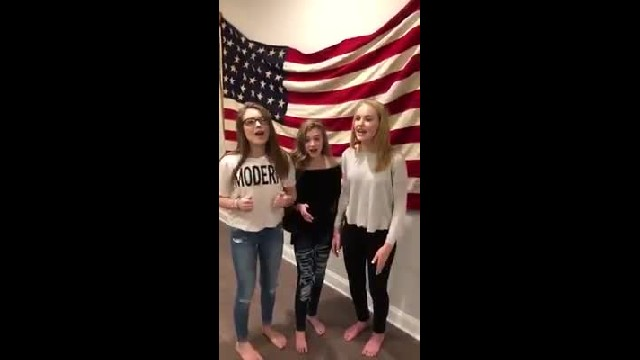 Teens send mom video of them singing national anthem. 1 wk later 20 million people are in awe