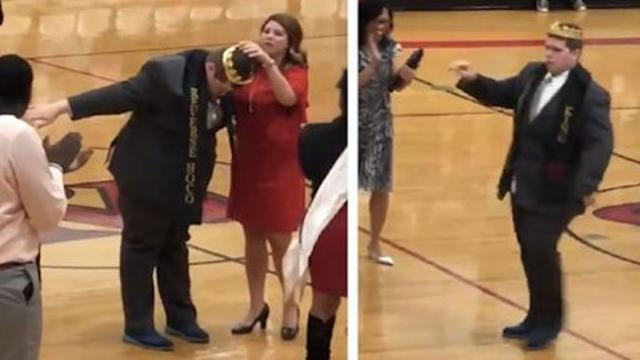 Students name autistic classmate Homecoming King, go wild when he busts out dance moves