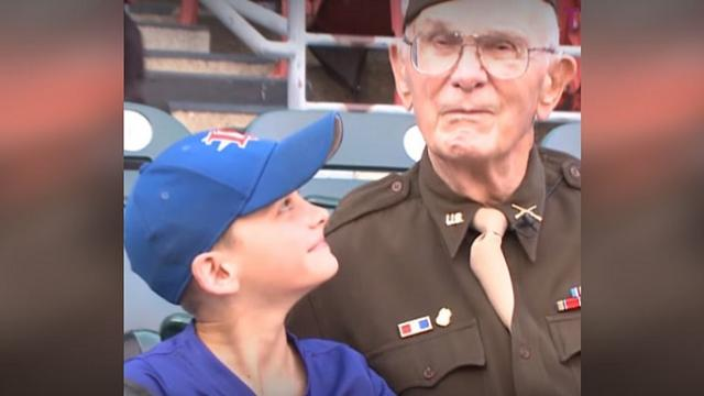Reporter asks boy why he gave game ball to 96-yr-old & his explanation melts hearts.