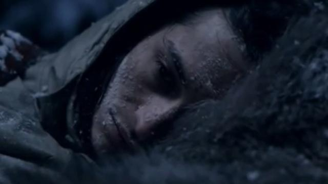 Exhausted man collapses in the woods, and the wolves close in