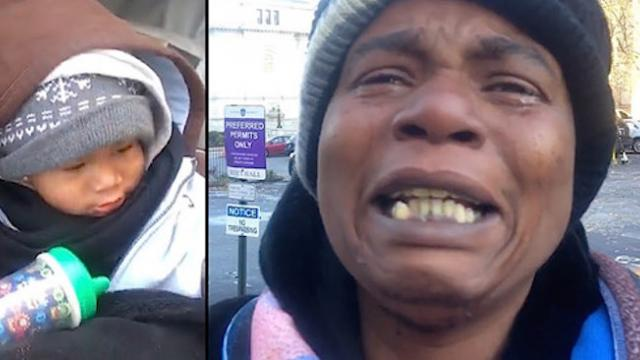 Homeless mom's desperate plea circulates on Facebook and she's stunned by the public's response