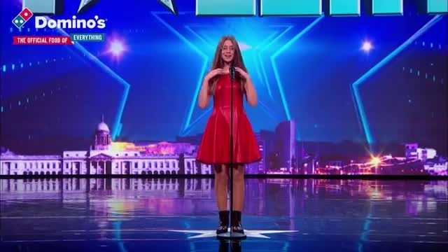 "Judges skeptical of nervous girl's song choice only to slam golden buzzer yelling she's a ""Superstar"