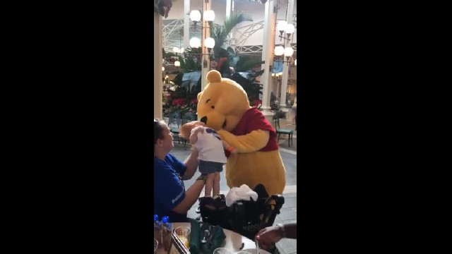 Winnie the Pooh Knew Exactly What To Do When He Visited a Disabled Little Boy at Disney