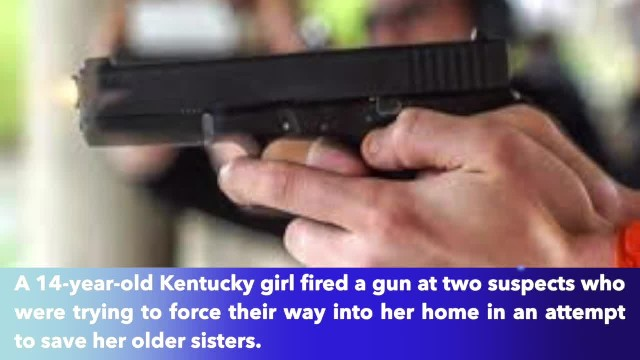 14-year-old girl shoots at home invaders in effort to protect her sisters