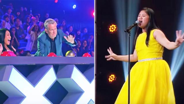Nervous girl rips ceiling off with Barbra Streisand hit, and earns Golden Buzzer