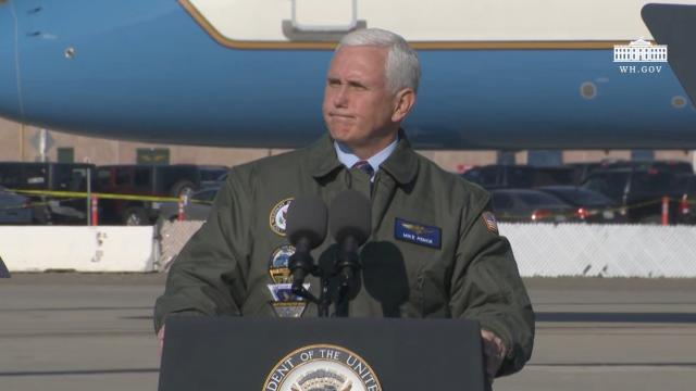 Vice President Pence delivers remarks to sailors