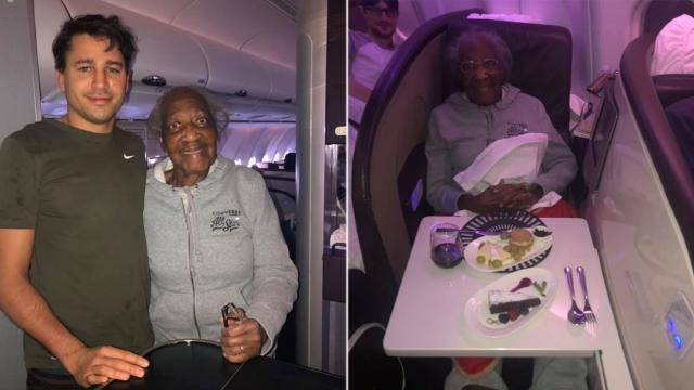 First-class passenger gives seat to 88-year-old stranger, makes her 'dream' come true