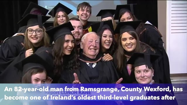 82-year-old man graduates from Waterford Institute of Technology with honours arts degree