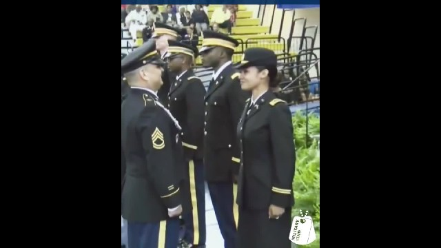 Dad skips his graduation to give army daughter First Salute & gets incredible surprise