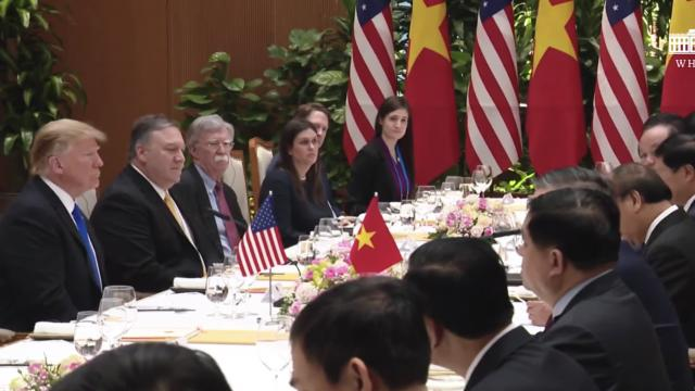 President Trump Participates in a Working Lunch with the Prime Minister of the SRV