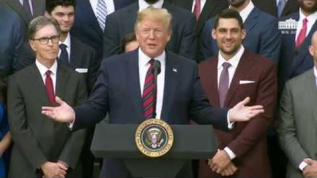 President Trump Welcomes the 2018 World Series Champions The Boston Red Sox to the White House