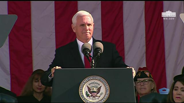 Vice President Pence Attends a National Veterans Day Observance