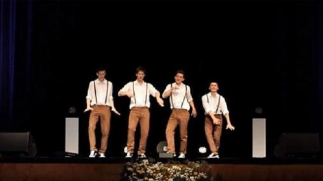 4 teens groove along to 60s song. Now watch their epic moves when music suddenly changes