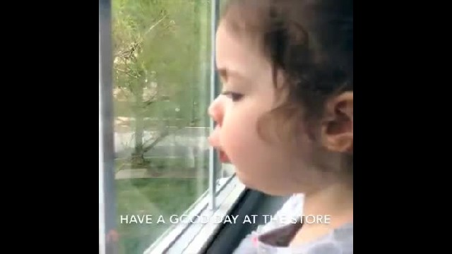 Precocious 2-yr-old watches dad's car from window, critiques his driving in adorable video!