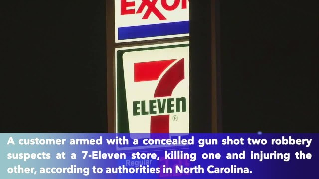Customer armed with concealed gun kills 7-Eleven robbery suspect in Charlotte