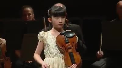""" Child genius from Singapore plays Vivaldi beautifully on violin in an orchestra in Genève, Switzer"